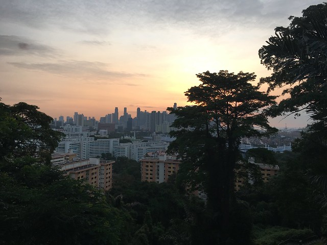 Dawn view from Mount Faber