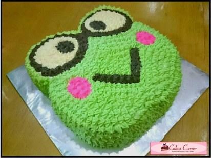 Keroppi 2D Birthday Cake