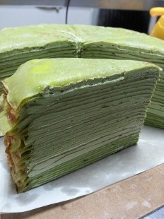green tea millie crepe