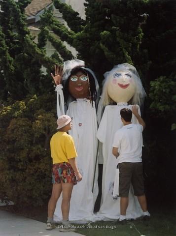 Commitment Ceremony at San Diego LGBTQ Pride Festival, 2001