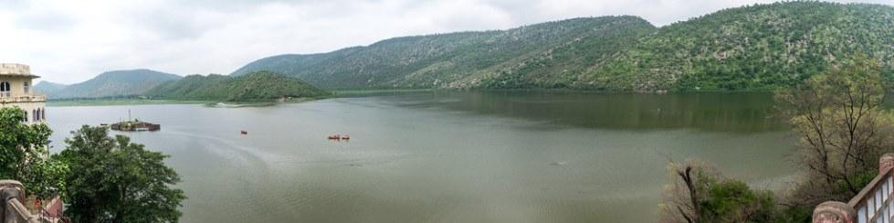 Siliserh Lake panorama