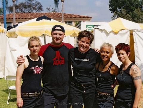 Backstage at San Diego LGBTQ Pride Festival, 2001