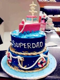 boat theme birthday cake