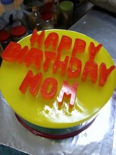 rainbow agar-agar for non cake lover birthday