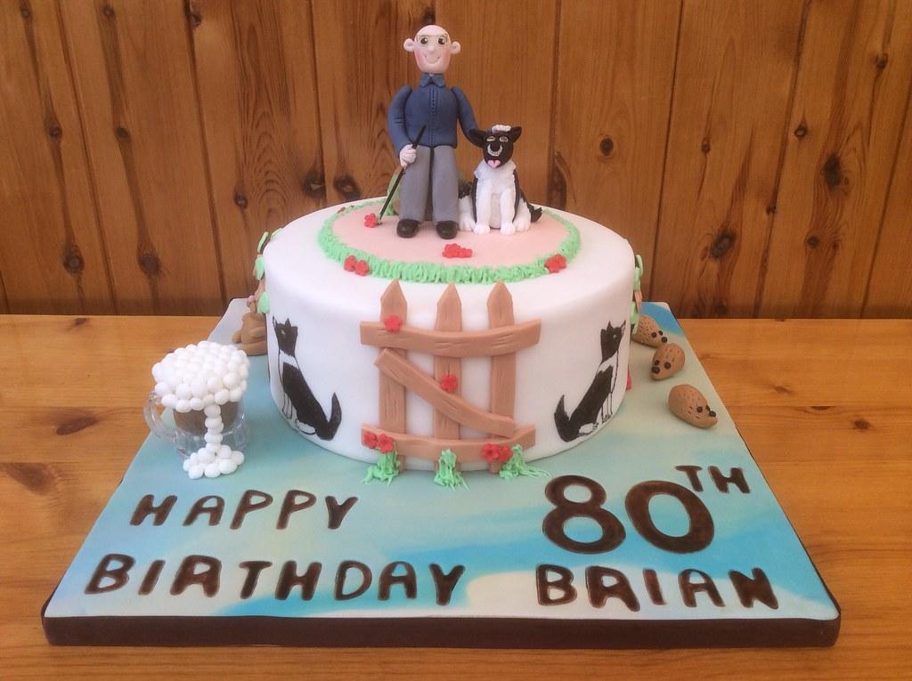 man dog 80th birthday