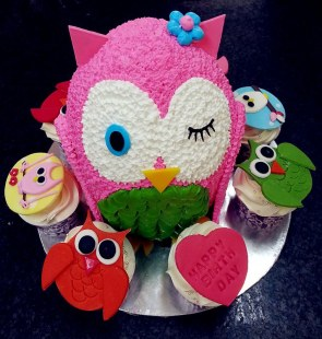 Pink Owl Birthday