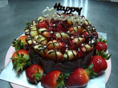 Custom made strawberry cake