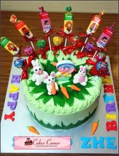 Rabbit Vanilla Sponge Birthday Cake