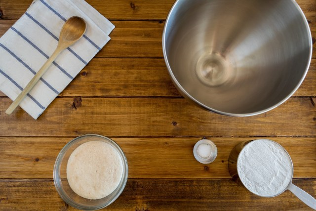 ready to start mixing the dough