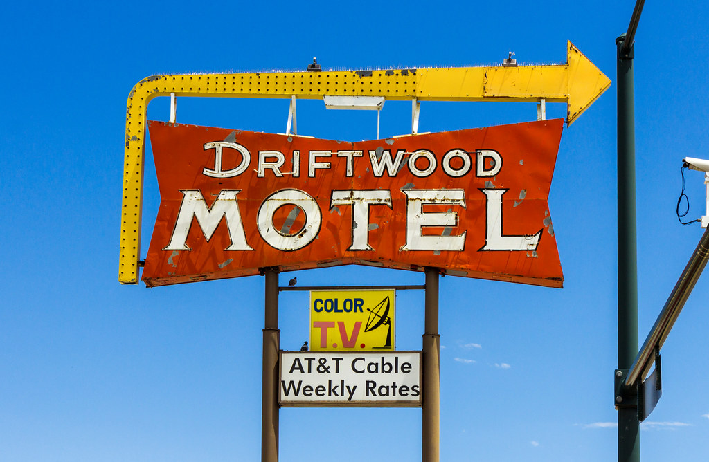 Driftwood Motel Sign
