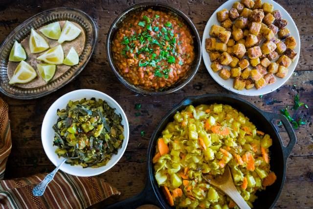 an Ethiopian feast