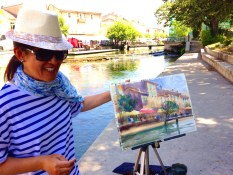 Keiko Tanabe, art instructor in Provence for  www.frenchescapade.com