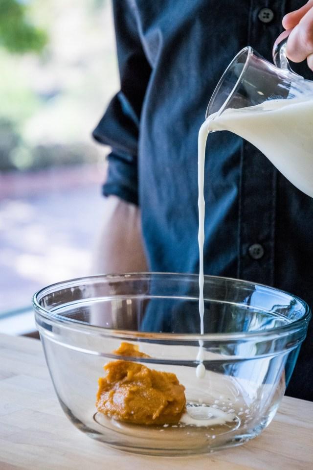 a splash of buttermilk