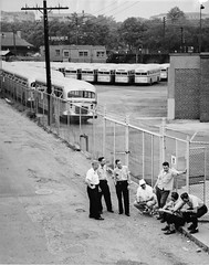 Brookland operators on first day of strike: 1955