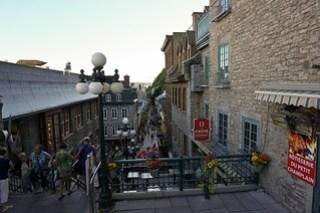 L'escalier au Quartier Petit-Champlain