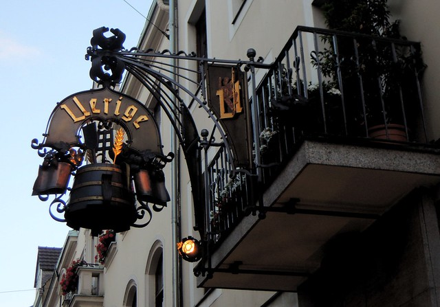 Düsseldorf is famous for Altbier, and Uerige is one of the old breweries by bryandkeith on flickr
