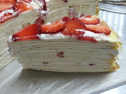 fresh strawberry crepe