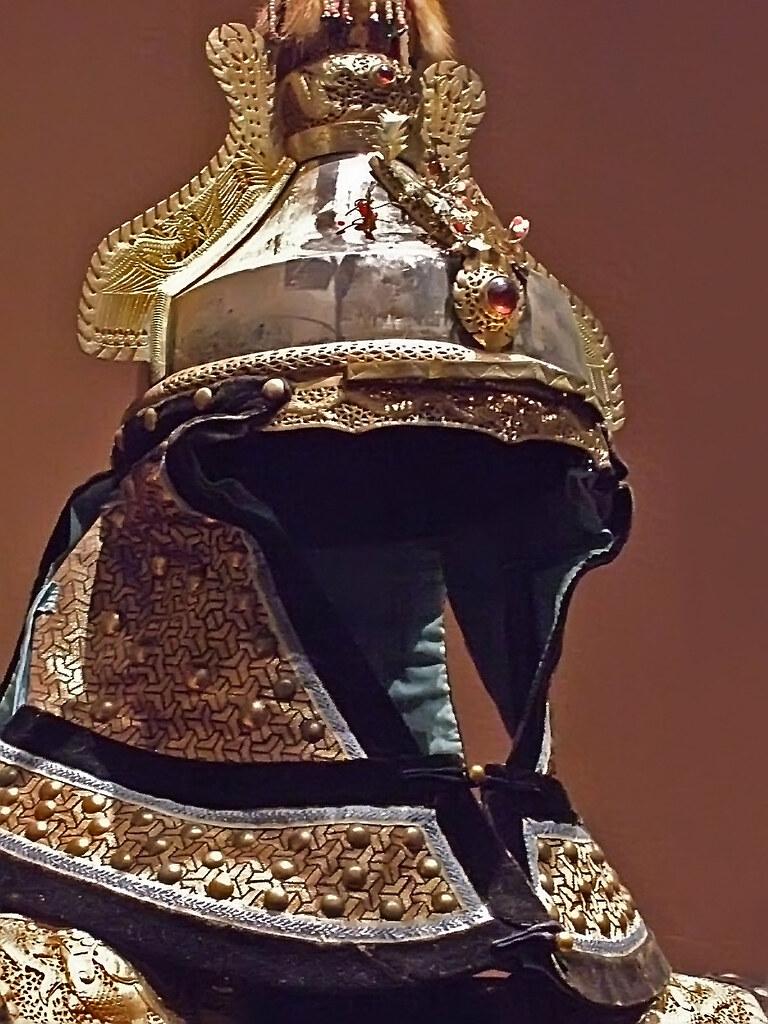 Manchu Imperial Guards Parade Uniform Helmet Qing Dynasty