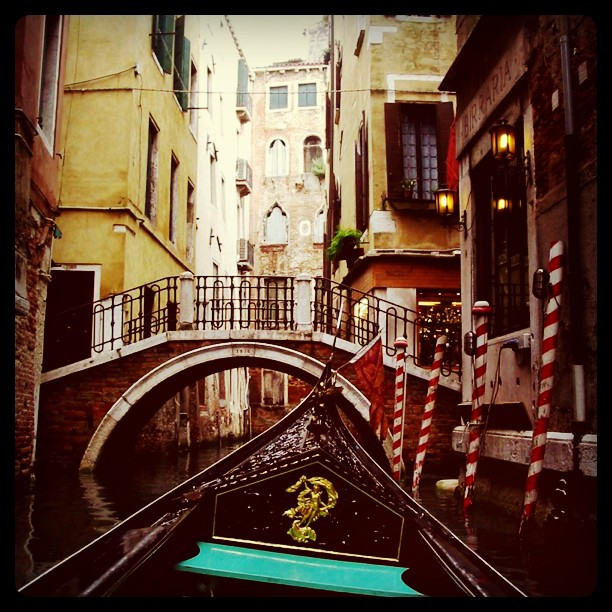 Repost #Gondola ride through the canals of #Venice #Italy