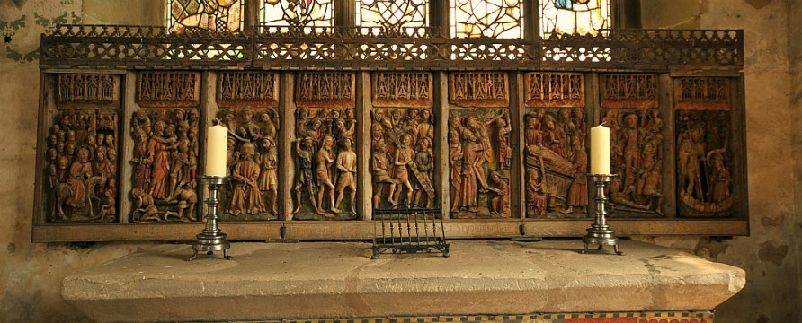 The Chapel Alter.Haddon Hall.Derbyshire.England.......St. Nicholas Chapel was completed in 1427