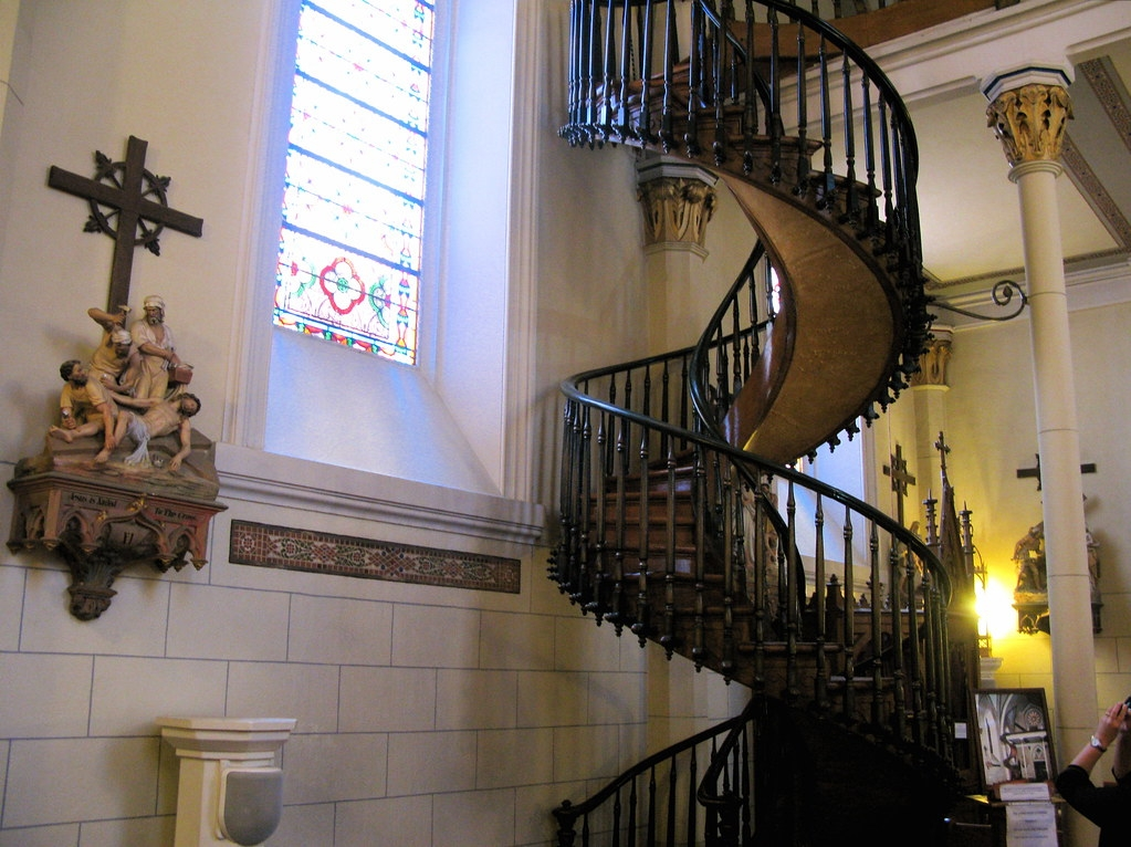 Loretto Chapel Miraculous Stairway Agoralnick Flickr   Stairway Of Loretto Chapel   Original   Sister   Story   Spiral   Mysterious