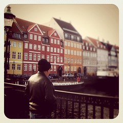 On our roadtrip. My Pop looking out over the harbor in Copenhagen