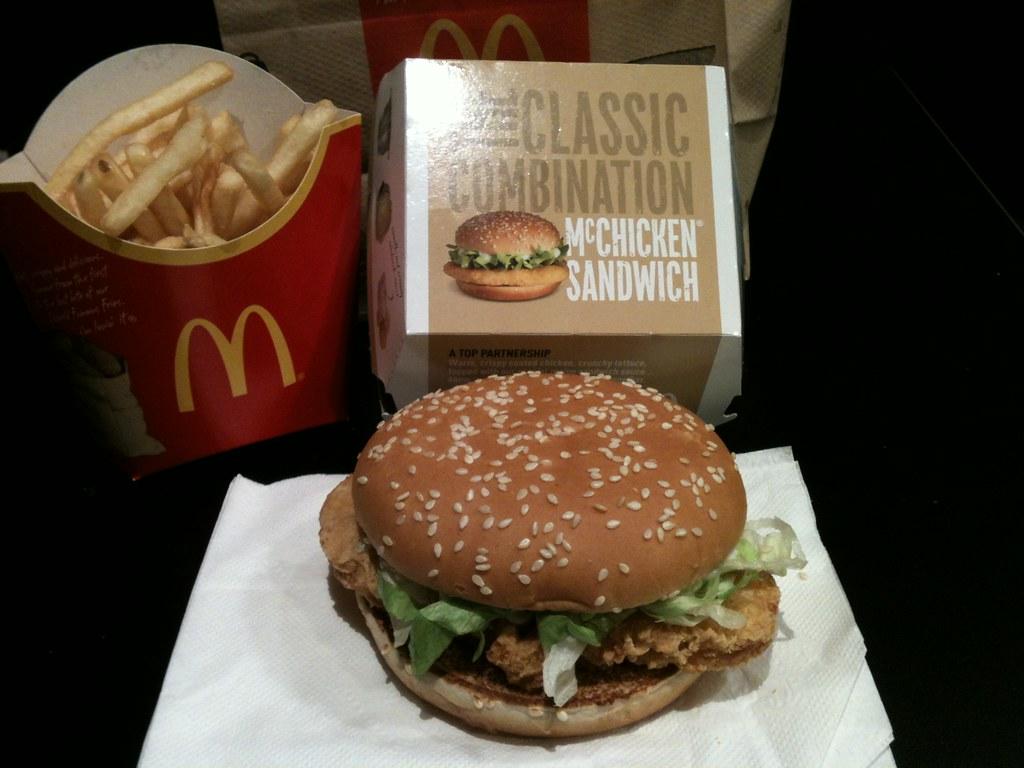 mcchicken sandwich mcdonald s