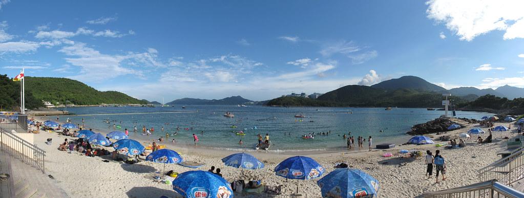 三星灣泳灘全景圖 | 由前八張相片合併而成。 | Martin Ng | Flickr