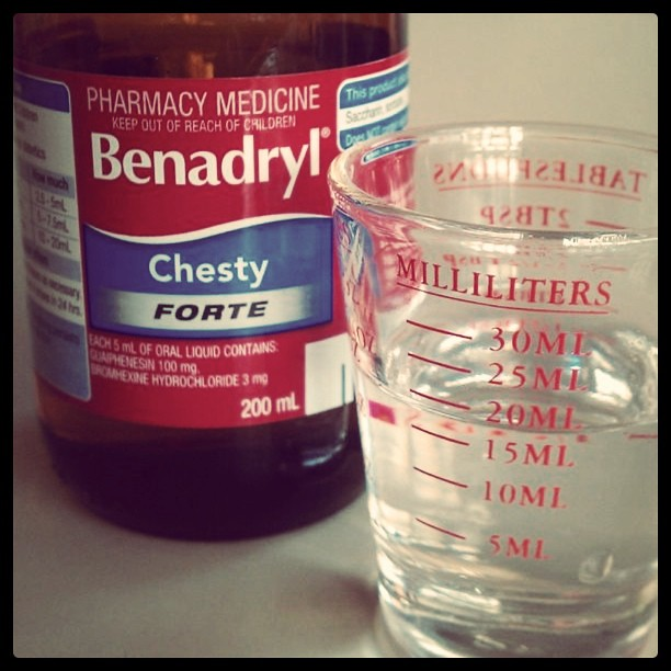 There's something a little unsavory about cough syrup in a shot glass. #manflu