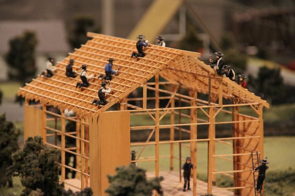 amish barn raising the