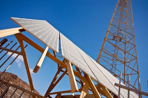 Solar powered telecom tower