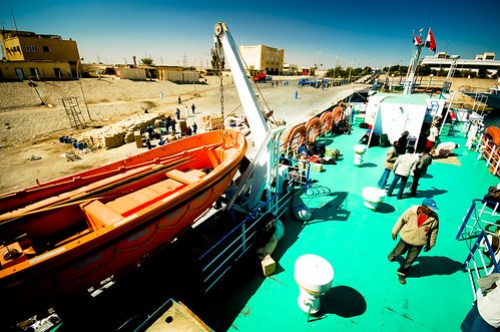 Loading up the Lake Nasser ferry in Aswan