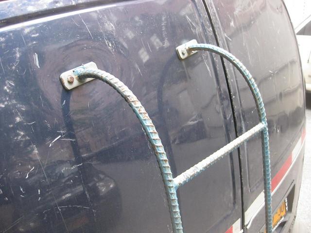 Ladder made from rebar