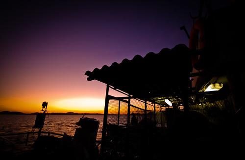 Sunset from the ferry across Lake Nasser