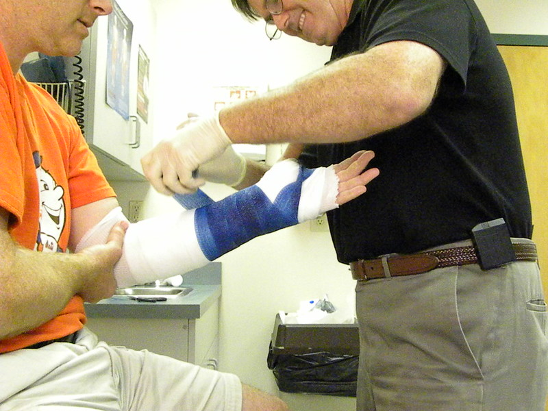 Getting A Cast On His Arm
