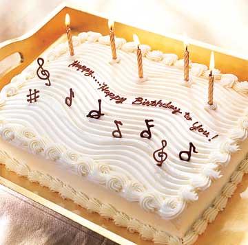 happy birthday song cake