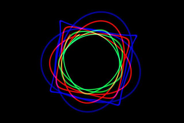 Long Exposure Double Pendulum