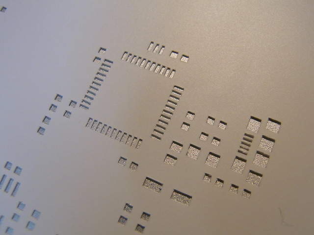 Solder stencil cut using Craft Robo cutting plotter