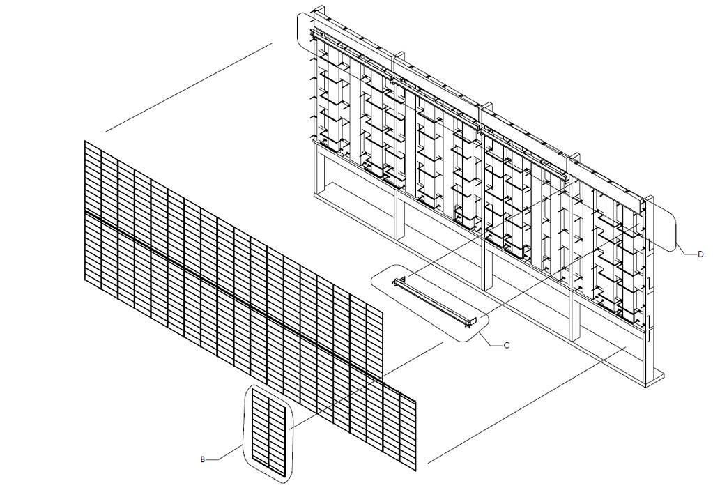 Progress Photo; building Ned Kahn's Kinetic Facade in Calg