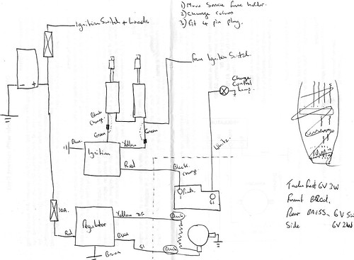 Puch 175 SVS wiring diagram, using electronic dynamo regul