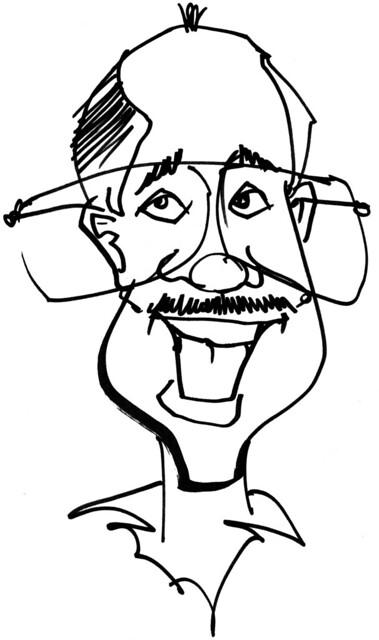 Ron Castro Caricature