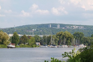 Lake Cayuga with Cornell in distance