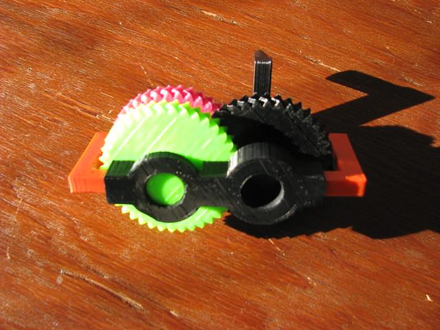 3D printed gearbox