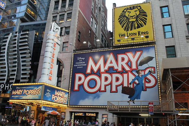 Mary Poppins on Broadway at the New Amsterdam Theatre