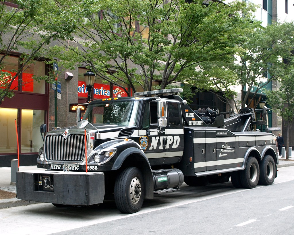 Nypd Traffic Enforcement Police Tow Truck World Financial