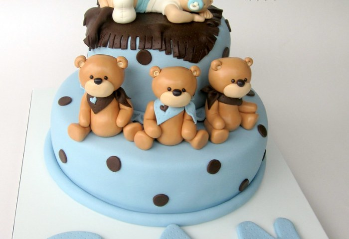Sleeping Baby Boy Can 1stbirthday Cake Wwwpastatasarim Cake