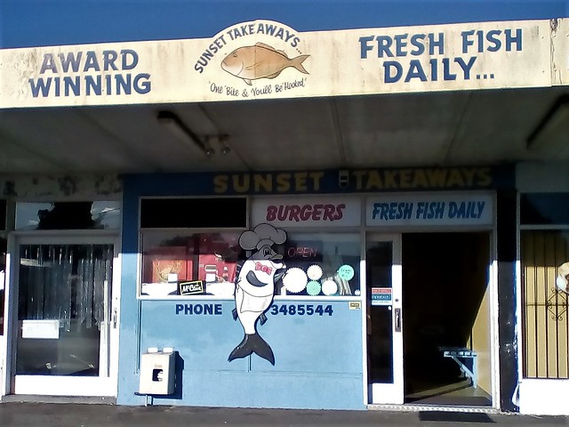 Sunset Fish and Chip Shop, Rotorua NZ
