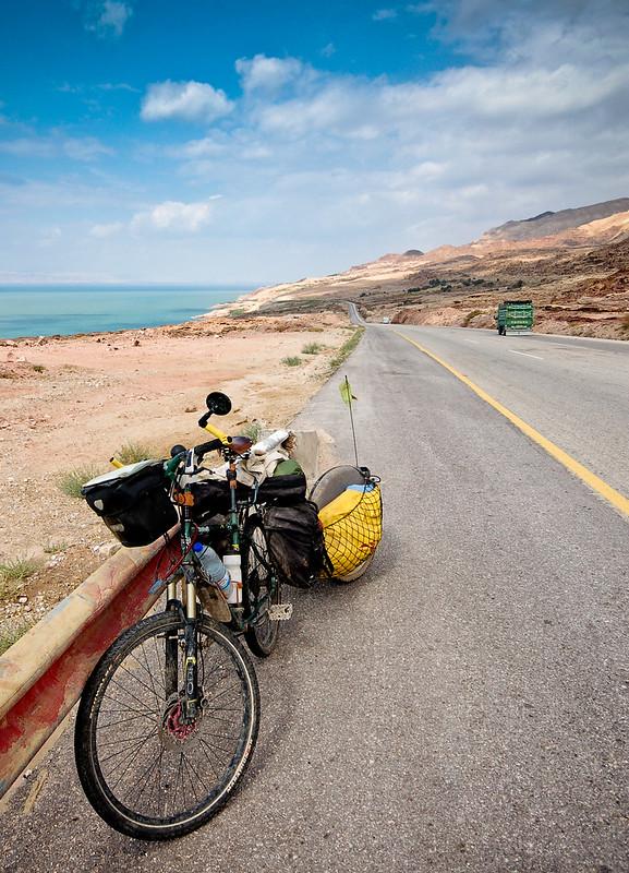 Dead Sea road riding