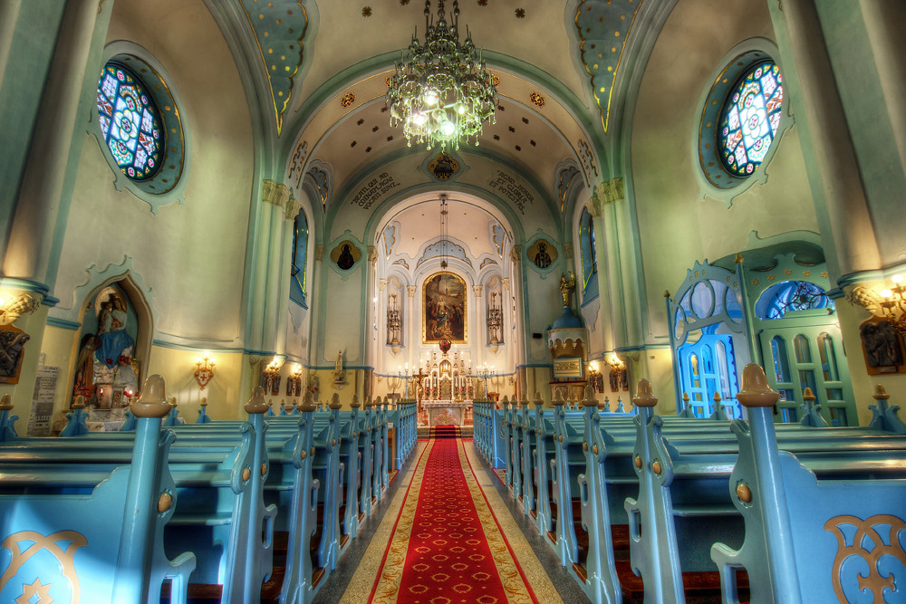 Inside the Church of St. Elisabeth
