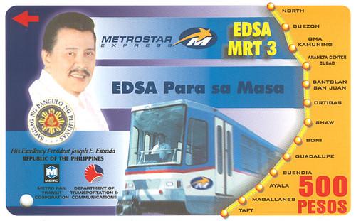 EDSA para sa Masa MRT Ticket